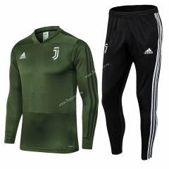 2018 19 Juventus Army Green V Neck Thailand Soccer Tracksuit 411 Adidas