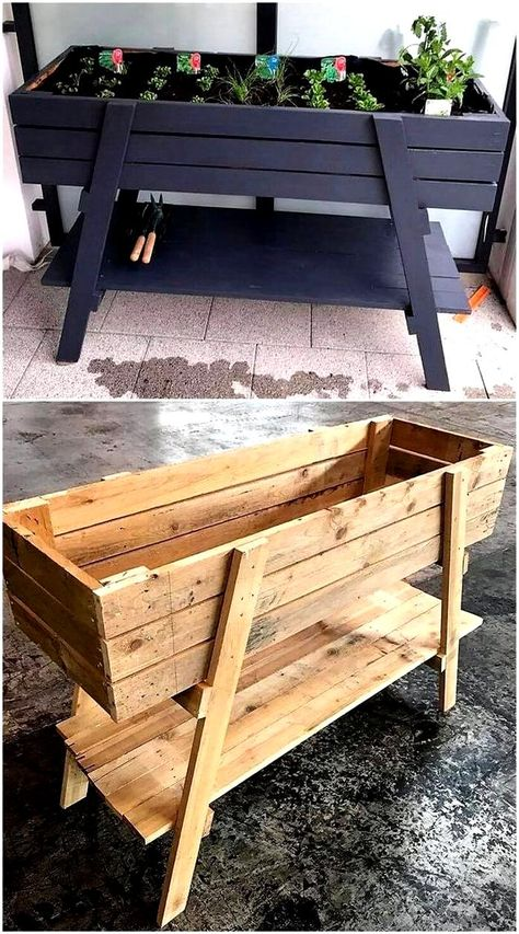 Wooden Pallet Projects, Diy Pallet Furniture, Furniture Ideas, Painted Furniture, Pallet Wood, Barbie Furniture, Furniture Design, Antique Furniture, Pallet Garden Projects