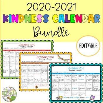 Kindness Calendar 2021 September 2020   June 2021 Kindness Calendar Bundle! *May and June