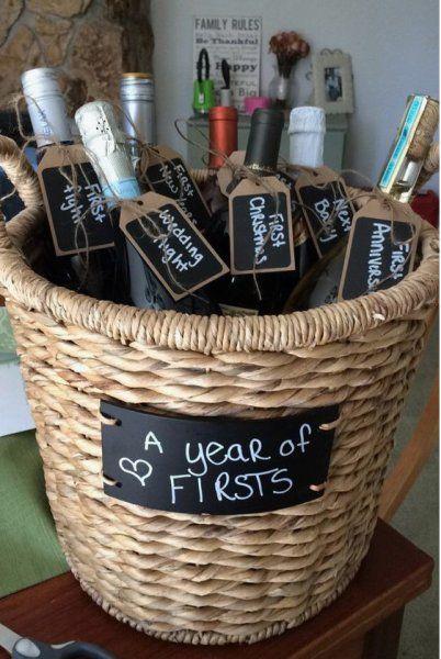 Homemade And Diy Gifts Basket Of Wine Diy Wedding Gifts Wedding Gift Baskets Diy Gift Baskets