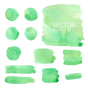 Set Of Green Watercolor Brush Stroke Design Brush Stroke Vector Png And Vector With Transparent Background For Free Download Watercolor Brushes Green Watercolor Brush Strokes