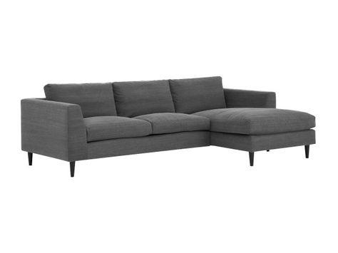 c0050e0b JONES Sjeselongsofa Grå - Divan-, sjeselong,- hjørne- og - Sofa