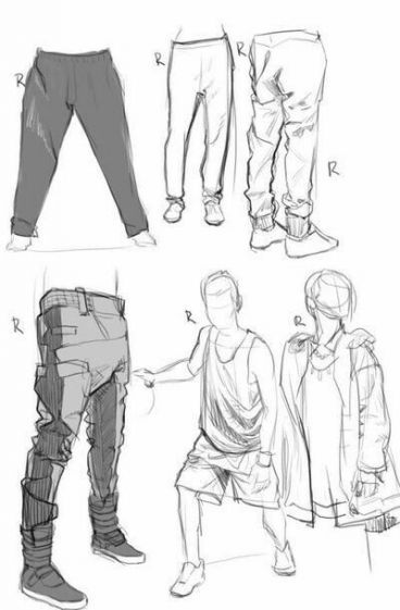 Fashion Illustration Pants Sketches 44 Ideas Drawing Clothes