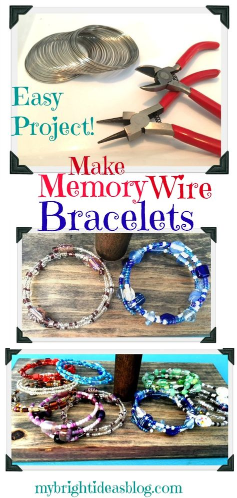 Make Memory Wire Bead Bracelets
