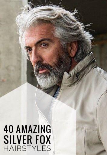 40 Amazing Silver Fox Hairstyles For Men Grey Hair Men Older Mens Hairstyles Grey Bearded Men
