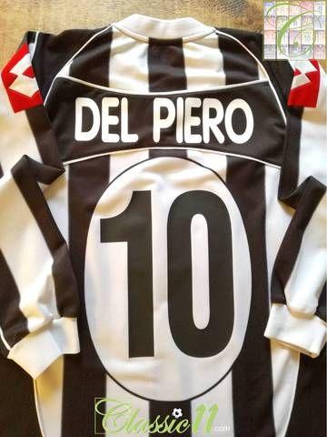 meet c65c5 8126b 2002/03 Juventus Home European Football Shirt. Del Piero #10 ...