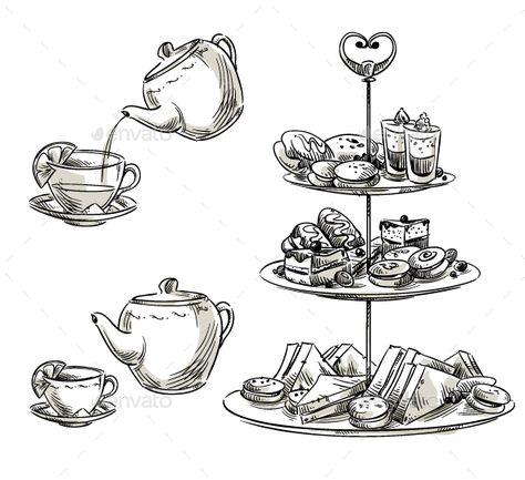 Set of Snacks on a Tray Teatime
