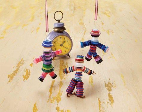 909a7226f4b8e Loisirs créatifs  30 idées de bricolage facile avec des boutons ...