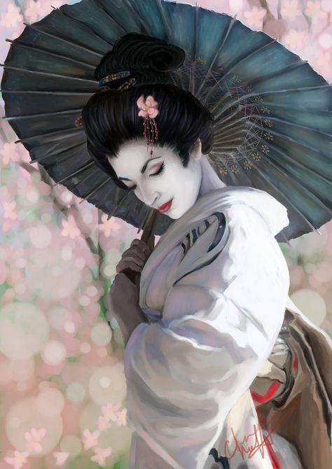 Pin de Savannah Vigil en Beautiful Japanese/Geisha Art ...