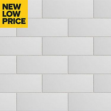 City Chic White Ceramic Wall Tile Pack Of 17 L 400mm W 150mm