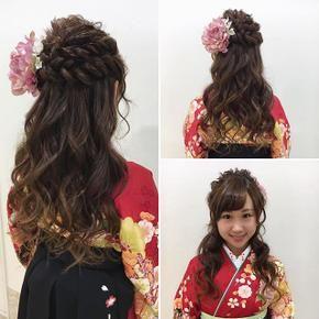135749 袴 ヘアアレンジ 卒業式 髪型 ハーフアップ 髪型 ハーフアップ