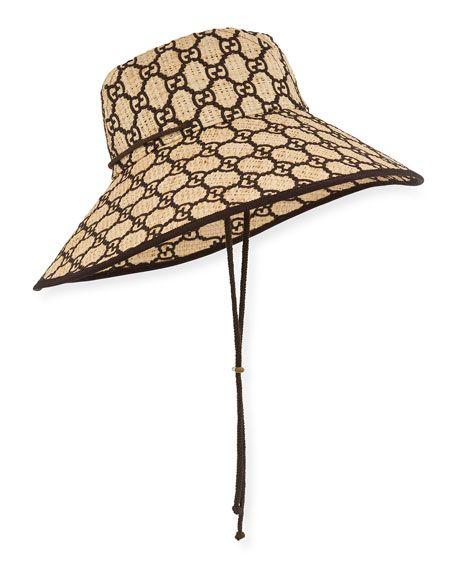 31863b5a91 Gucci GG Supreme Raffia Bucket Hat in 2019 | Accessories | Hats ...