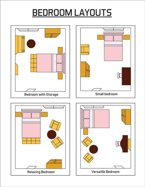 Let's take a look at some of the most popular bedroom layout ideas. Space planning is the first priority of professional designers. The $500 ultra-luxe duvet will not matter if your space is poorly planned. The layout, or space planning, of your bedroom is the most important aspect of your...