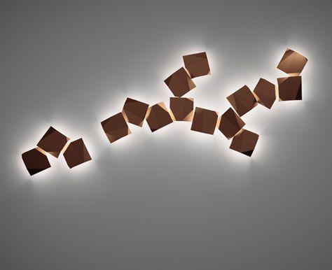 Illuminazione da parete origami vibia illuminazione