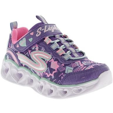 Disney Girls Minnie Mouse Light Up Trainers Kids Touch Fasten Sports Shoes