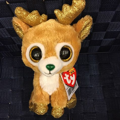 c8061c2c5bb Current 438  New Ty Beanie Boo Christmas 2018 Glitzy Gold Glitter Deer -   BUY IT NOW ONLY   24.99 on eBay!