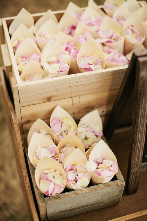 flower petal confetti // photo by Louisa Bailey // florals by The Flower Jar // styling by The Style Co. // View more: http://ruffledblog.com/melbourne-rustic-wedding/