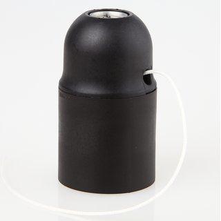 E27 Lampenfassung Kunststoff Schwarz Mit Zugschalter Ohne Aussengewind 5 80 Kunststoff Schalter Fassung