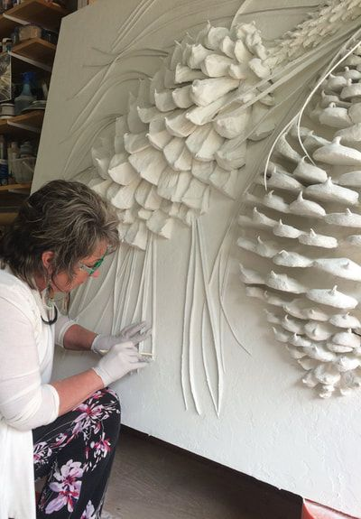 Low Bas Relief Sculptures Classes In Portland Or Elite Artistry Molds For All Things In Relief Plaster Art Plaster Wall Art