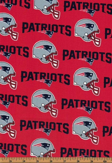 New England Patriots Football Fabric Nfl 100 Cotton By Fabric Traditions New England Patriots New England Patriots Football Patriots