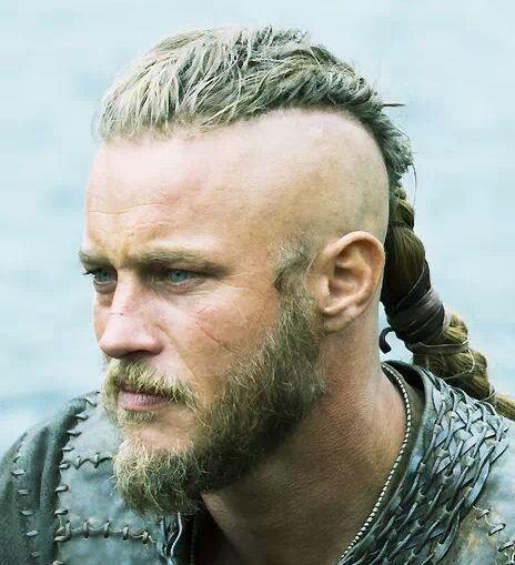 Ragnar Lothbrok Long Hair Undercut Hairstyle Photograph Wikinger Frisuren Viking Frisur Herrenfrisuren