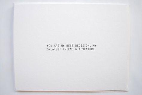 Best Decision love card anniversary card birthday by RustandIvory