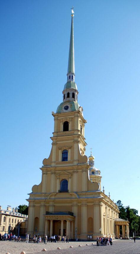 Cathédrale Saint-Pierre-et-Saint-Paul, Île aux Lièvres, Saint-Pétersbourg, Russie.
