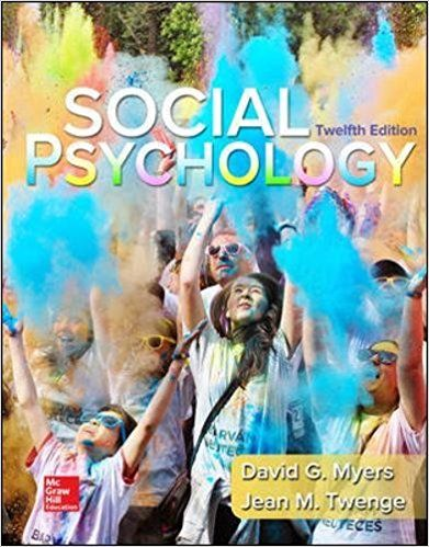 Social Psychology 12th Edition By Myers Isbn 13 978 0077861971