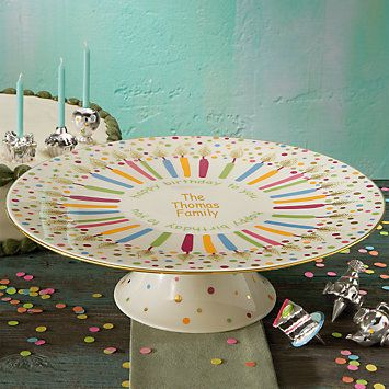 Personalized Singing Birthday Cake Plate Home Goods Pinterest