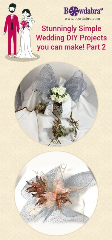 Stunningly Simple Wedding Diy Projects You Can Make Part 2 Bowdabra Diy Wedding Projects Diy Wedding Simple Weddings