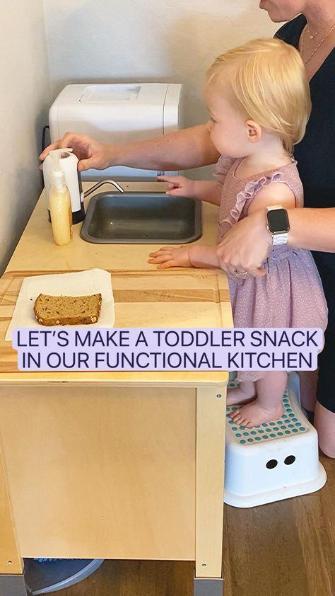 Ikea Functional Toddler Kitchen - Healthy Toddler Snacks