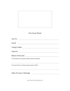Use This Fax Cover Sheet To Provide Details On An Insurance Claim Free To Download And Print Fax Cover Sheet Fax