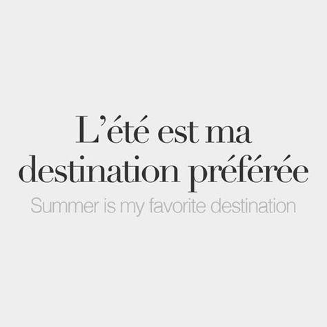 L'été est ma destination préférée