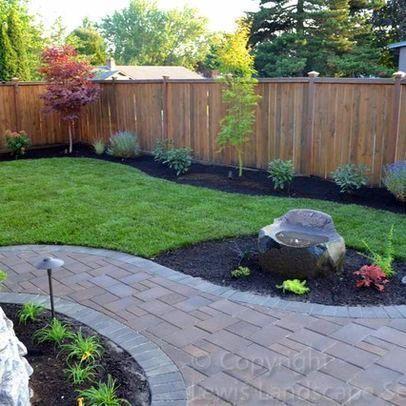 Wonderful Front Yard Landscaping Ideas Backyard Landscaping Designs Pavers Backyard Backyard Fences
