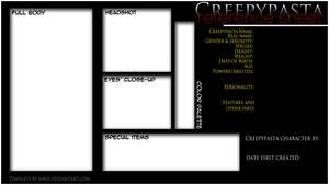 Creepypasta Character Ref Sheet Template By N4ds Creepypasta