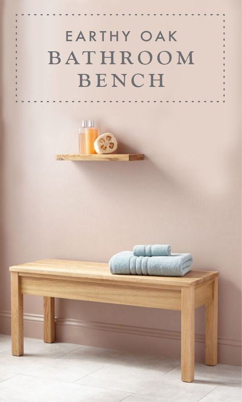 Oak Bathroom Bench Home Pinterest Badezimmer Baden And Sitzbank