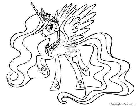 Kleurplaten My Little Pony Princess Celestia.Kleurplaat My Little Pony Zeemeermin Google Zoeken