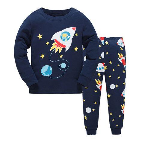 Boys Pyjamas Set Dinosaur Print Kids Pjs Pajama Long Sleeve Cotton Sleepewar Tops Shirts /& Pants Nightwear Children Outfit