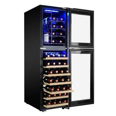 Akdy 50 25 In 44 Bottle Freestanding Dual Zone Compressor Freestanding Wine Cooler Wc0077 Best Wine Coolers Wine Cooler Wine