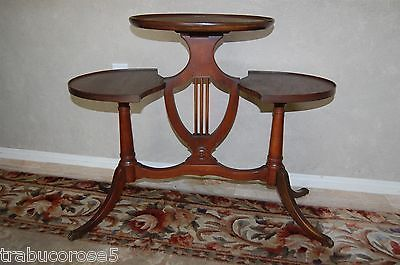 Vintage Mersman Duncan Phyfe Lyre/Harp 3 Tier Table/Plant Stand W/Brass  Feet | Duncan Phyfe, Antique Furniture And Tables