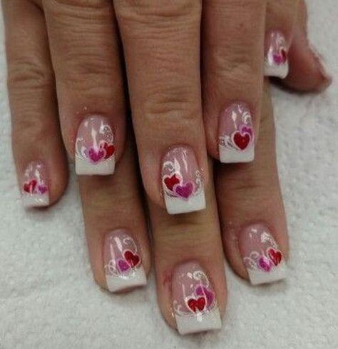 Romantic Valentine S Day Nail Art Ideas Designs Nail Designs Valentines Romantic Nails Valentines Nail Art Designs
