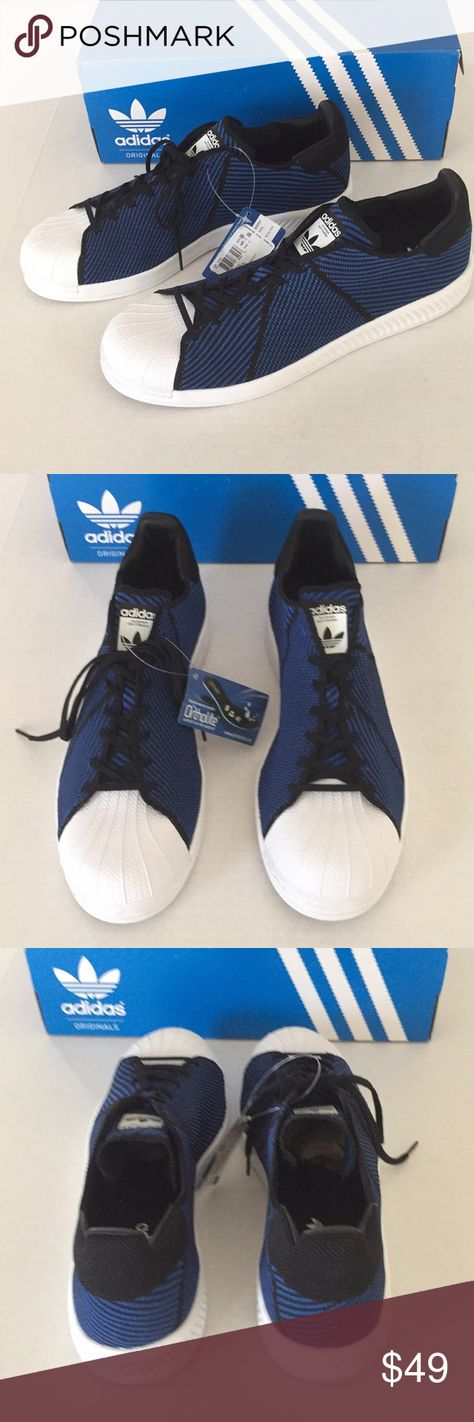 7d1262c83 Adidas Superstar Bounce PK Adidas Superstar Bounce PK Color black blue white  Size 11.5 New with box adidas Shoes Sneakers