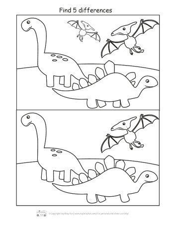Dinosaur Find The Differences Printable Dinosaur Worksheets Dinosaur Printables Dinosaurs Preschool Preschool dinosaur activities free