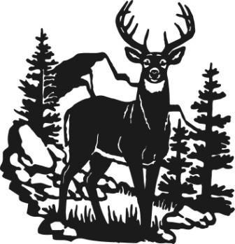 Silhouette Info Patterns Pinterest Deer Silhouette Metal Art