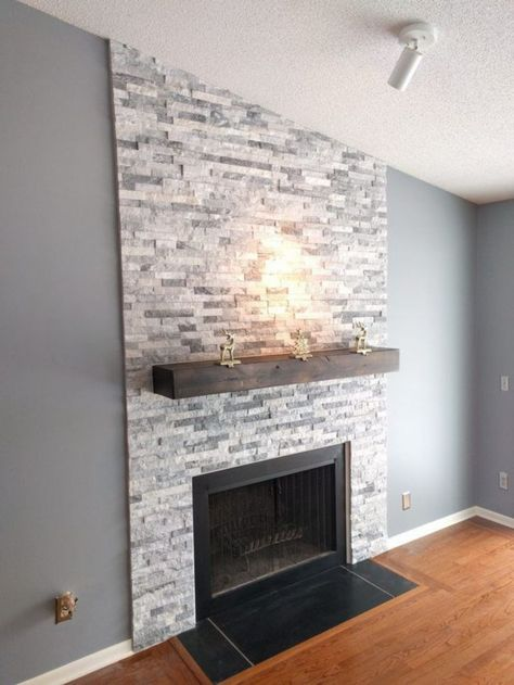 51 modern rustic painted brick fireplaces ideas colours stone rh pinterest com