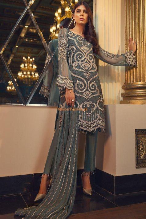 Pakistani EmbRoyal Maria B Asim Jofa Shalwar Kameez Palazo Embroidered Suit