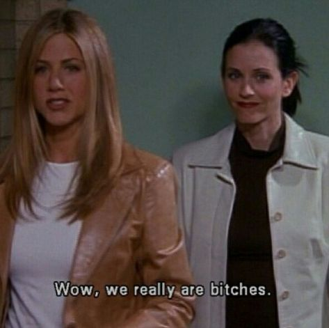 Monica and Rachel - best friend goals, haha Tv Show Quotes, Film Quotes, Funny Quotes, Old Movie Quotes, Quotes Quotes, Friends Moments, Friends Tv Show, Friends Show Quotes, Friends Scenes