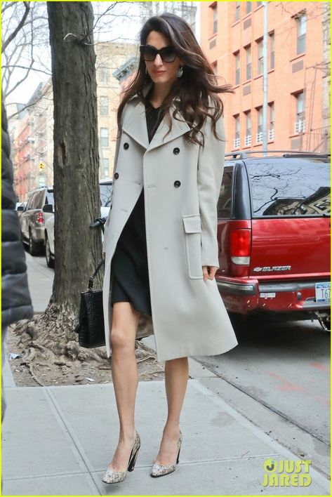 Amal Clooney Shows Her Elegant Style on the Way to Work! : Photo Amal Clooney showed off yet another incredible outfit while heading to work today! The international law and human rights activist was spotted on…