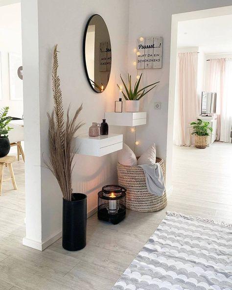 """Zuhause mit Rue auf Instagram: """"Was denkst du? via @frecherfaden. . . . . . . . . #homewithrue #roominspiration # interiør #inspire_me_home_decor # myinspiringinterior… """"   - entryways #wohnzimmerdekoration #wohnzimmerdekor #wohnzimmerdekoideen #wohnzimmerdekograu"""