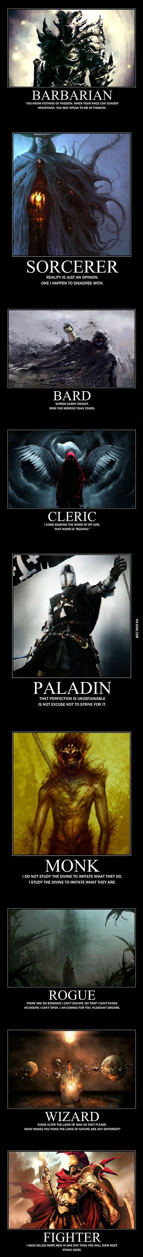 If i had to choose, monk, rogue, or paladin. Those 3 have always been my favorite 3 class in any game with a class system